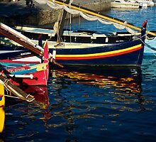 Boats at  Collioure, France by Bruce Alexander