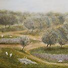 Misty Grove (Acrylic On Canvas) by RealZeal