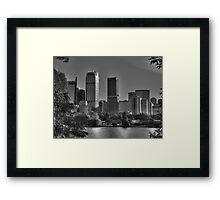 Sydney in Black and White Framed Print