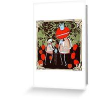 tea with pumpkin king Greeting Card