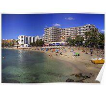 Santa Eulalia Beach and Promenade Poster
