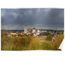 Vilnius. Old town. My city. Poster
