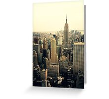 The Empire State Building and the New York City skyline Greeting Card
