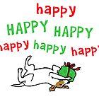 Jack Russell Happy Christmas by Jenn Inashvili