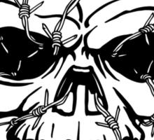 Barbwired Black Skull Sticker