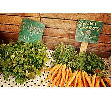 Cilantro & Carrots Photographic Print