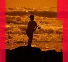iphone case, surfcasting. by Lynne Haselden