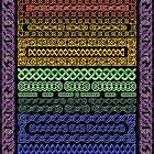 Crystal Celtic Knot Borders Plate 1 ~ Decoupage Paper by MaryJaneBayliss
