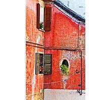 Three windows - One round Photographic Print