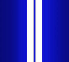 Blue Car Stripes by Alisdair Binning