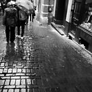 rain. cobble stones. Brussels by Nikolay Semyonov