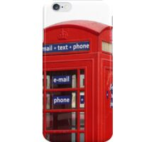 Telephone Box, E-mail+Text+Phone iPhone Case/Skin