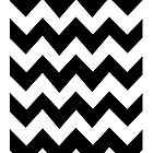 Black and White ZigZag Pattern iPhone Case by Autographics