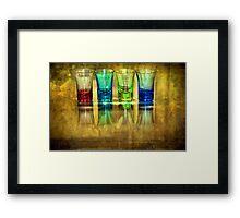 Four Vodka Glasses Framed Print