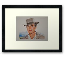 Young blue eyes.. Framed Print