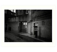Romance in the Rain - Chinatown - New York City Art Print