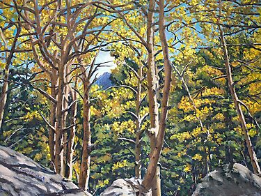 Landscape Painting - Aspens in Estes - 18 x 24 Oil by Daniel Fishback