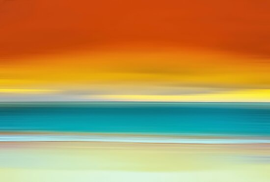 Crack of Dawn over the Beach by David Alexander Elder