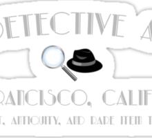 ACME Detective Agency Gray Font Sticker