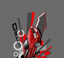 Audi Quattro Graphic iPhone Case by Autographics