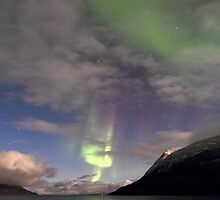 Aurora Borealis & clouds II by Frank Olsen