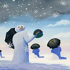 snowmen by Jim Mathews