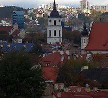 Old town with New city. My city by Antanas