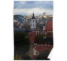 Old town with New city. My city Poster
