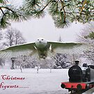Merry Christmas From Hogwarts...... Christmas Card by Sandra Cockayne