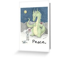 Peace Dragon Greeting Card