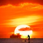 iPhone Case. Sunset Paddling by Alex Preiss