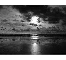 Evening on the beach 2 (Mono) Photographic Print