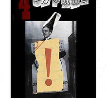 Dada Tarot- 4 of Swords by Peter Simpson