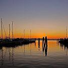 Sunset at Burlington Bay (Vermont) by Juergen Weiss