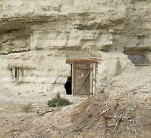 Dwelling carved from sandstone by Martha Sherman