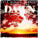 It's Always Darkest Before The Dawn by Sarah ORourke