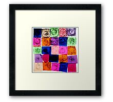 Abstract Chine Colle Print Framed Print