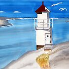 Mollösund lighthouse by Eva  Ason