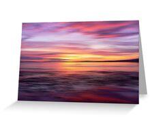 Golden Seam of a Sunset Greeting Card