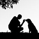 The man and his dog by Karen Havenaar