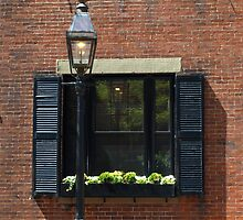 A Typical Window in Beacon Hill, Boston, MA USA by Lee d'Entremont