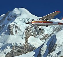 plane in the mountains by neil harrison