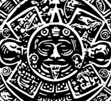Mexican Mayan Calender the Aztec Sun Stone Sticker
