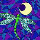 Dragonfly Moon (iPhone) by Rhonda Walker