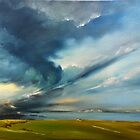 Storm is coming over Waterville by Roman Burgan