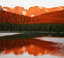 Alpen Glow, Brainard Lake, Colorado by Shilohlin Pfeiffer