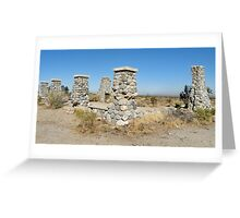 Ruins of  commune Llano del Rio Greeting Card