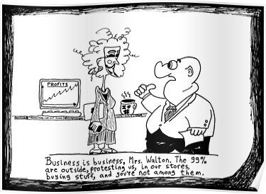 Business and the 99 Percent cartoon by bubbleicious