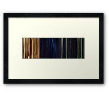 Moviebarcode: The Animatrix 1 Final Flight of the Osiris (2003) Framed Print