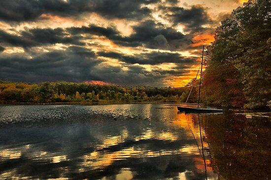 Colorful lake Waban by LudaNayvelt